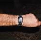 Homme Montre Bracelet Montre numérique Numérique LED Etanche Alliage Bande Luxe Noir Argent