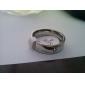 Муж. Жен. Женский Классические кольца Простой стиль Титановая сталь Круглый Геометрической формы Бижутерия Назначение Для вечеринок