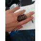 Femme Bagues Affirmées Ajustable Ouvert Européen bijoux de fantaisie Dentelle Alliage Bijoux Pour Soirée Décontracté