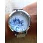 Women's Flower Pattern Steel Band Quartz Wrist Watch Cool Watches Unique Watches Fashion Watch Strap Watch