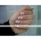 1 Fleur Abstrait Dessin Animé Adorable Punk Mariage Tampons Ongles  Modèle d'image Plaques Pochoir