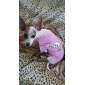 Cachorro Camiseta Roupas para Cães Respirável Carta e Número Ocasiões Especiais Para animais de estimação