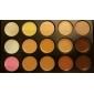 20pcs makeup set Professional/Full Coverage Powder Foundation/makeup brush set+15Color Concealer+Brush Cleaning Tool