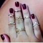Femme Bague de Phalange Personnalisé Amour Strass Imitation Diamant Alliage Forme de Cercle Animal Papillon Infini Bijoux Mariage Soirée