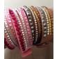 Femme Bracelets Cristal Basique Original Mode Multicouches bijoux de fantaisie Cristal Cuir Forme de Cercle Bijoux Bijoux Pour Soirée