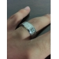 Ring Band Rings Stainless Steel Simple Style Silver Jewelry Gift 1pc