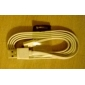 MFi ihave 8-Pin Lightning Charge and Sync Data Flat Cable 5V/2.4A for iPhone 5/iPad((8Pin,90cm) Assorted Color
