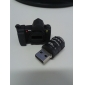 8GB bonito Mini Camera Flash USB Drives Preto