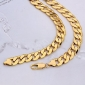 Massive  24K Yellow Gold Filled Men's Necklace Solid Curb Link Chain 60CM (24 Inches) 12MM 102g Jewelry