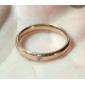 Anéis Casamento / Pesta / Diário / Casual Jóias Aço Titânio Feminino Anéis Grossos5 / 6 / 7 / 8 / 9 Cor de Rosa / Prateado