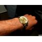 Men's Gold Round Dial Alloy Band Quartz Analog Wrist Watch Cool Watch Unique Watch Fashion Watch