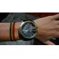 V6 Homens Relógio Militar Relógio de Pulso Quartzo PU Banda Preta Marrom Verde Azul Marinho