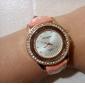 Женские Модные часы Кварцевый Кожа Группа Блестящие Черный / Белый / Розовый / Фиолетовый бренд-