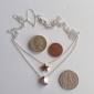 Fashion (Star & Moon) Double Chain Alloy Pendant Necklace
