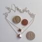мода (звезда& луна) дважды цепь сплава ожерелье