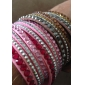 Women's Wrap Bracelet Crystal Basic Unique Design Fashion Multi Layer Costume Jewelry Crystal Leather Circle Jewelry Jewelry For Party