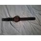 Homme Montre Bracelet Quartz Silikon Bande Noir