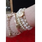 Alloy Bead Multi-row Eiffel Tower Pendant Bracelet Jewelry Christmas Gifts