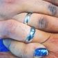 Mulheres Anéis de Casal Anel de noivado Amor Casamento Aço Inoxidável Formato de Coração Jóias Para Casamento Festa Aniversário Noivado