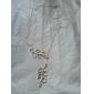 Femme Pendentif de collier Forme de Feuille Plaqué argent Alliage Mode Ajustable Européen Bijoux Pour Soirée Quotidien Décontracté Plage