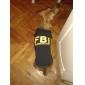 개 티셔츠 옐로우 / 블랙 강아지 의류 여름 경찰/군인 / 문자와 숫자 휴일 / 패션