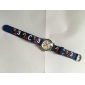 Children's Letters Pattern Blue Silicone Band A B C Quartz Strap Watch Analog Wrist Watch Cool Watches Unique Watches Fashion Watch