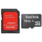 Original SanDisk 16GB Class 4 MicroSDHC TF Memory Card with SD Adapter