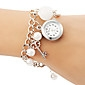 Women's Pearl Pendant Alloy Band Quartz Bracelet Watch Cool Watches Unique Watches