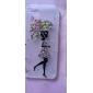 diamante butterful menina saia pintura caixa de plástico transparente para iphone5 / 5s