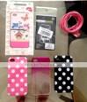 Dots Rodada Padrão Matte TPU Soft Case bonito para iPhone 4/4S (cores sortidas)