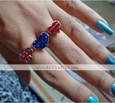 Американский флаг Юнион Джек Звезды любят бициклическое кольцо