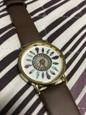 Femme Quartz Montre Bracelet Grosses soldes Polyuréthane Bande Fleur Décontracté Mode Noir Blanc Marron